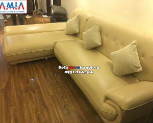 Hình ảnh sofa da góc chữ L giá rẻ cho chung cư thiết kế hiện đại, sang trọng