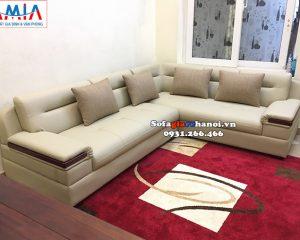Hình ảnh Ghế sofa da góc giá rẻ Hà Nội cho phòng khách nhà phố, nhà chung cư đẹp hiện đại