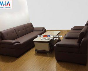 Hình ảnh Bộ bàn ghế sofa phòng khách giá rẻ tại Hà Nội chất liệu da hiện đại