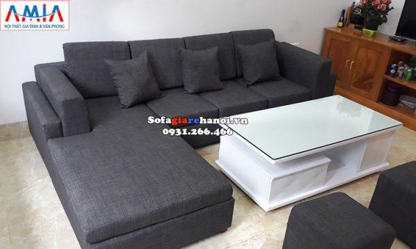 Hình ảnh Sofa góc nỉ giá rẻ cho phòng khách đẹp