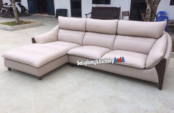 Hình ảnh Ghế sofa góc da Hàn Quốc giá rẻ cho phòng khách đẹp hiện đại
