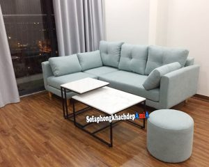 Hình ảnh Sofa vải nỉ đẹp kê phòng khách nhỏ xinh xắn
