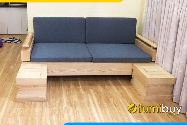 ghế sofa văng gỗ sồi đẹp hiện đại